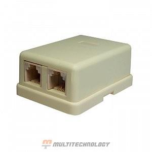 Компьютерная розетка 6P4C (RJ-11) 2 порта (10-0306)