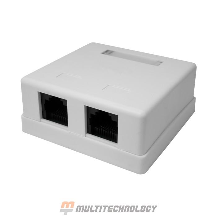 Компьютерная розетка 8P8C (RJ-45) UTP Cat.5e 2 порта (10-0309)