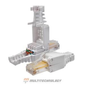 Коннектор 8P8C U/UTP Cat.5e (RJ-45) безынструментальный (10-0218)