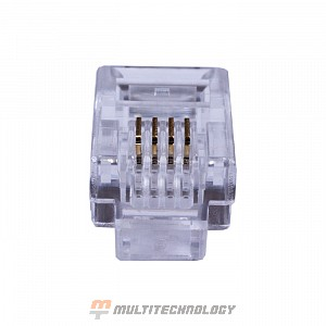 Коннекторы 4P4C (RJ-11) (100шт) (10-0229)