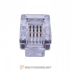 Коннекторы 6P4C (RJ-11) (100шт) (10-0227)