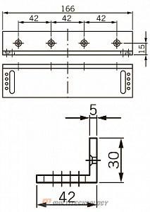 L-кронштейн для EMC 400 AH
