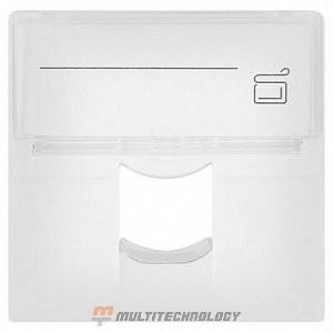 Лицевая панель 1 порт (45х45, Keystone, шторка, откидное маркировочное окно) (10-0301)