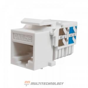 Keystone Jack 8P8C (RJ-45) UTP Cat.5e инструментальная заделка белый (10-0313)
