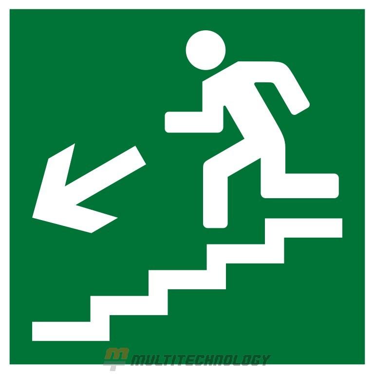 Плёнка (Е-14) направление к эвакуационному выходу по лестнице вниз (налево) (200х200)