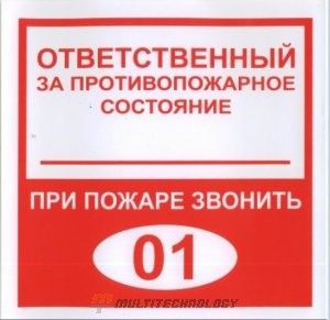 Плёнка (В 02) ответственный за противопожарное состояние (200х200)