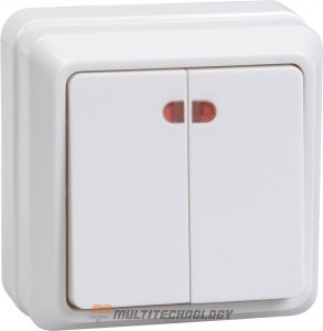 ВС20-2-1-ОБ 2 кл с инд, белый (EVO21-K01-10-DC)