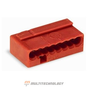 WAGO 243-808 Клемма MICRO 8-проводная красная