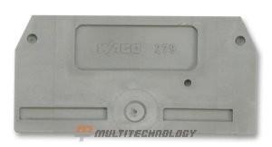WAGO 279-325 торцевая и промежуточная пластина, серая